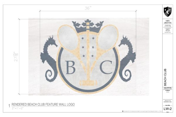 Rendered Beach Club Feature Wall Logo